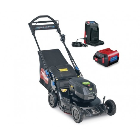 "Toro Super Recycler 21"" 60V MAX Electric Battery 21388 Personal Pace Walk Behind Lawn Mower"