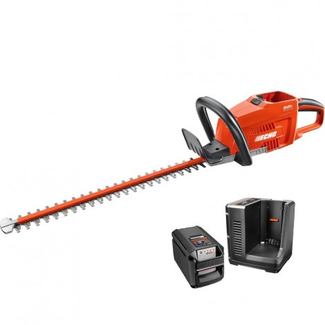 Echo 58V Brushless Battery Hedge Trimmer w / charger and battery (2.0 Ah) CHT-58V2AH