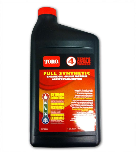 Toro all season 4 cycle synthetic engine oil 1qt 32 oz for Best motor oil for lawn mowers
